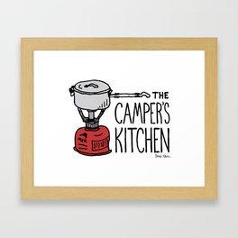 The Camper's Kitchen Framed Art Print