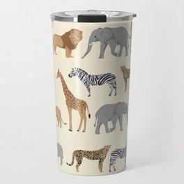 Safari animal minimal modern pattern basic home dorm decor nursery safari patterns Travel Mug