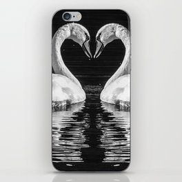 swans heart iPhone Skin
