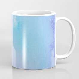 Abstract Watercolor Art Blue And Purple Modern Painting Coffee Mug