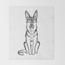 German Shepherd Dog Throw Blanket