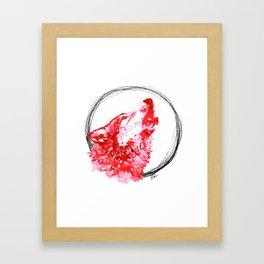 Red Wolf - Print Framed Art Print