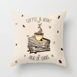 Coffee And Books Throw Pillow