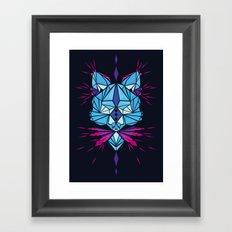Triangle wolf Framed Art Print