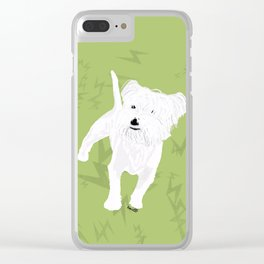Toby the stuffed animal-like dog Clear iPhone Case