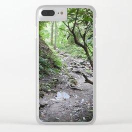 Magical Mountain Path Clear iPhone Case