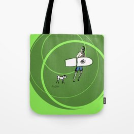 Surfing with a Friend Tote Bag