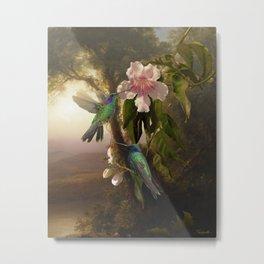 Sparkling Violetear Hummingbirds Metal Print