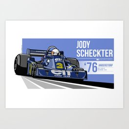Jody Scheckter - 1976 Anderstorp Art Print