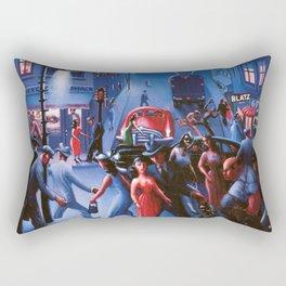 Bronzeville at Night by Archibald Motley Rectangular Pillow