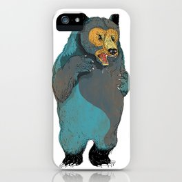 Mr.Grizzly iPhone Case