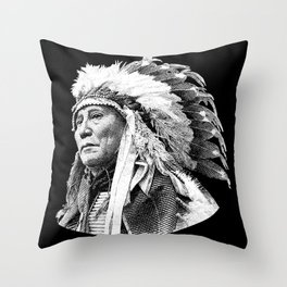 Chief Hollow Horn Bear Graphic Throw Pillow