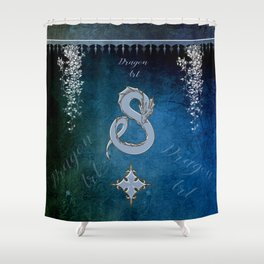 Wonderful chinese dragon Shower Curtain
