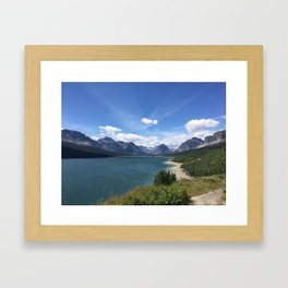 lake by the Mountains Framed Art Print