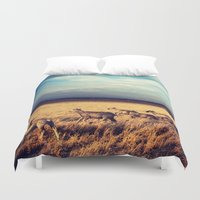 sheep Duvet Covers featuring Sheep by Slow Toast