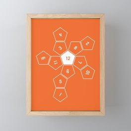 Orange Unrolled D12 Framed Mini Art Print