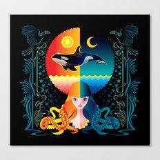Dream - Sea Day & Night Canvas Print