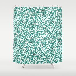 GREEN HONEYCREEPER Shower Curtain