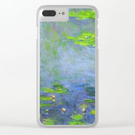Water Lillies - Claude Monet (ufo green) Clear iPhone Case