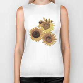 Yellow Sunflowers Biker Tank