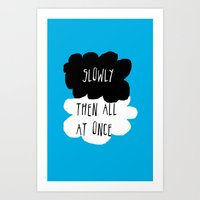 the fault in our stars Art Prints featuring the fault in our stars by Kathy157