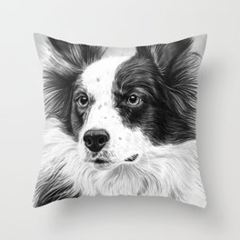 Dog Portrait 02 Throw Pillow