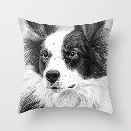 Dog Portrait 02 Throw Pillow