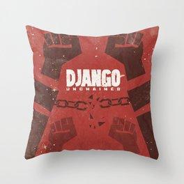 Django Unchained, Quentin Tarantino, minimalist movie poster, Leonardo DiCaprio, spaghetti western Throw Pillow