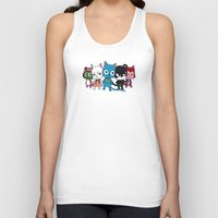 fairy tail Tank Tops featuring Fairy Tail Cats by ZeroOmega