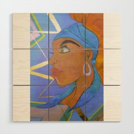 Electric Lady Wood Wall Art