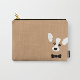 minimal corgi in bowtie Carry-All Pouch