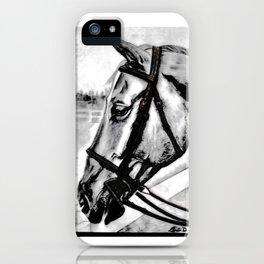 'Content' Original Equine Artwork, Horse Wall Art. EQUESTRIAN Decorating, Original Hand-Drawn iPhone Case