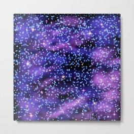 Space nebula background. Metal Print