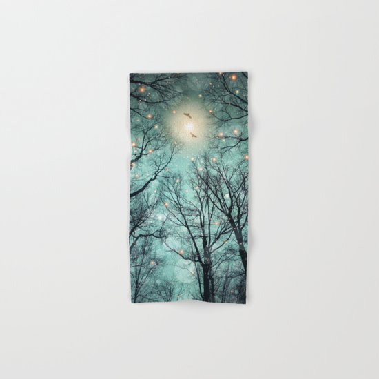 Nature Blazes Before Your Eyes (Mint Embers) Hand & Bath Towel