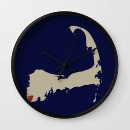 Falmouth on the Cape Wall Clock