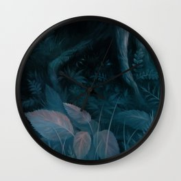 Forest close-up Wall Clock