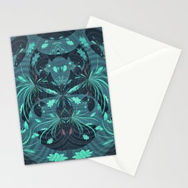Fireworks on Venus Floral Mandala Stationery Cards