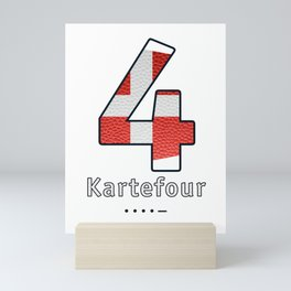 Kartefour - Navy Code Mini Art Print