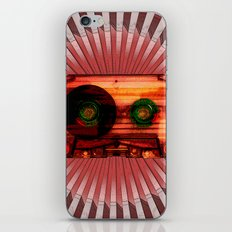 FUNKY VINTAGE AUDIOTAPE iPhone & iPod Skin