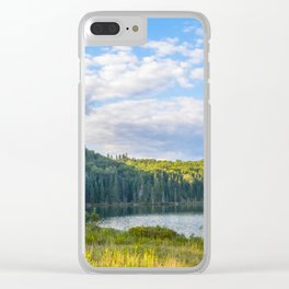 Lac in Mont-Tremblant national park in sunshine Clear iPhone Case