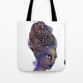 Feather in her Hair Tote Bag