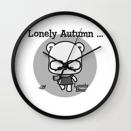 Lonely Autumn Wall Clock