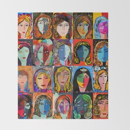 20 portraits Throw Blanket