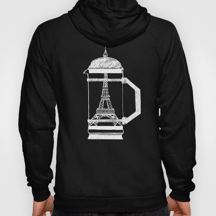 French Press... (Black & White) Hoody