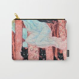 Eugene Grasset - Three women and three wolves - Digital Remastered Edition Carry-All Pouch