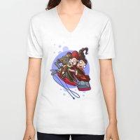 hocus pocus V-neck T-shirts featuring Hocus Poke Us by Artistic Dyslexia