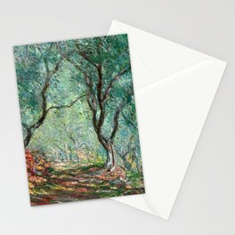 Claude Monet - Olive Tree Wood in Moreno Garden - Impressionism Stationery Cards
