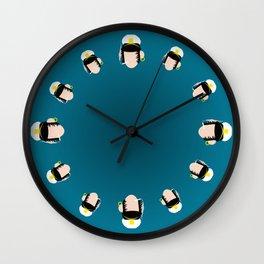 4menSmoking- Corto Wall Clock