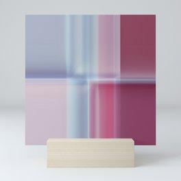 Reflective Pastel Mauve Blue Pink Pattern Mini Art Print