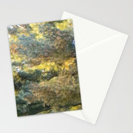 Water Color Trees Stationery Cards